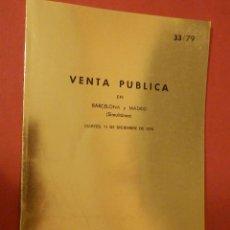 Catálogos y Libros de Monedas: CATÁLOGO EXPOSICIÓN NUMISMÁTICA - JUAN R. CAYON - JUEVES 11 DE DICIEMBRE DE 1979 - 33/79. Lote 74162931
