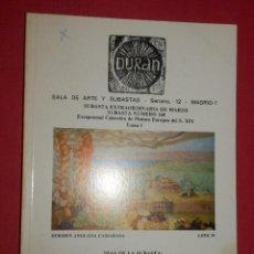 Catálogos y Libros de Monedas: CATÁLOGO SUBASTA EXTRAORDINÁRIA - SALA DE ARTE DURAN Nº 168 - MARZO - AÑO 1983 . Lote 74163187