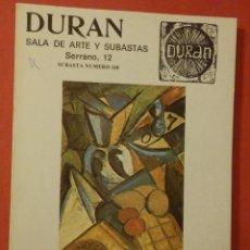 Catálogos y Libros de Monedas: CATÁLOGO SUBASTA EXTRAORDINÁRIA - SALA DE ARTE DURAN Nº 160 - JUNIO - AÑO 1982. Lote 74163275