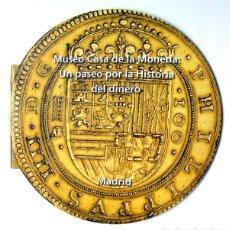 Catálogos y Libros de Monedas: MUSEO CASA DE LA MONEDA MADRID FOLLETO TROQUELADO EN FORMA DE MONEDA. Lote 75122531