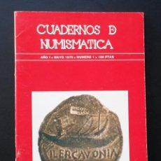 Catálogos y Libros de Monedas: A439.- CUADERNOS DE NUMISMATICA.- NUMINTER.- AÑO I - MAYO 1978 - NUMERO 1. Lote 75517031
