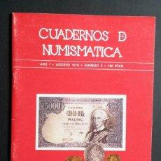 Catálogos y Libros de Monedas: A441- CUADERNOS DE NUMISMATICA.- NUMINTER.- AÑO I - AGOSTO 1978 - NUMERO 3. Lote 75517843
