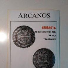 Catálogos y Libros de Monedas: ARCANOS. CATALOGO MONEDAS, BILLETES, CONDECORACIONES. SUBASTA. JOSE Mª ALEDON. 1995. FOLIO DE PEDIDO. Lote 76655371