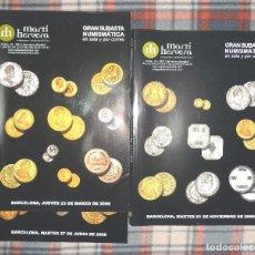 Catálogos y Libros de Monedas: LOTE 3 CATÁLOGOS SUBASTAS NUMISMÁTICAS **HERVERA**2006. Lote 189827866