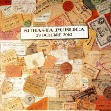 Catálogos y Libros de Monedas: CATALOGO DE SUBASTA AUREO EXTRAORDINARIA COLECCIÓN DE BILLETES Y MONEDAS GUERRA CIVIL 2002. Lote 80369829