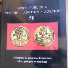 Catálogos y Libros de Monedas: COLLESTIONS DE MONNAIES BYZANTINES, CELTES, GRECQUES ET ROMAINES.. Lote 80860395