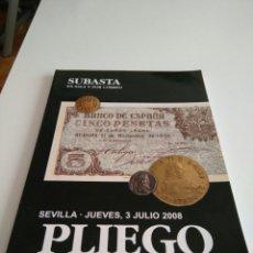 Catálogos y Libros de Monedas: LIBRO PLIEGO NUMISMATICA Y COLECCIONISMO.. Lote 81911920