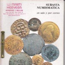 Catálogos y Libros de Monedas: CATALOGO MARTI HERVERA JUNIO 1994. Lote 86873492