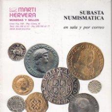 Catálogos y Libros de Monedas: CATALOGO MARTI HERVERA NOVIEMBRE 1994. Lote 86873552