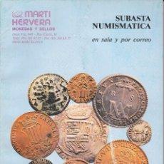 Catálogos y Libros de Monedas: CATALOGO MARTI HERVERA JUNIO 1995. Lote 86873616