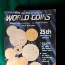 Catálogos y Libros de Monedas: CATALOGO DE MONEDAS WORLD COINS DESDE 1901 - EDITADO EN 1998 - 1.792 PÁGINAS. Lote 87176868