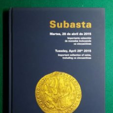 Catálogos y Libros de Monedas: CATALOGO DE SUBASTA - CAYON 28 DE ARIL 2015. Lote 87971216