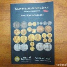 Catálogos y Libros de Monedas: CATALOGO CON TODO TIPO DE MONEDAS, MEDALLAS, BILLETES, CONDECORACIONES, ETC. Lote 90370064