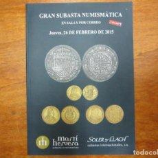 Catálogos y Libros de Monedas: CATALOGO CON TODO TIPO DE MONEDAS, MEDALLAS, BILLETES, CONDECORACIONES, ETC. Lote 90370308
