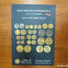 Catálogos y Libros de Monedas: CATALOGO CON TODO TIPO DE MONEDAS, MEDALLAS, BILLETES, CONDECORACIONES, ETC. Lote 90370372