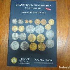 Catálogos y Libros de Monedas: CATALOGO CON TODO TIPO DE MONEDAS, MEDALLAS, BILLETES, CONDECORACIONES, ETC. Lote 90370428