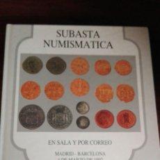 Catálogos y Libros de Monedas: SUBASTA NUMISMÁTICA 1992. Lote 91225785