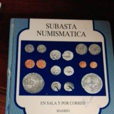 Catálogos y Libros de Monedas: SUBASTA NUMISMÁTICA 1992. Lote 91225848