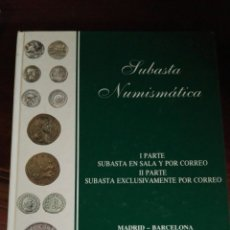 Catálogos y Libros de Monedas: SUBASTA NUMISMÁTICA 1991. Lote 91225869