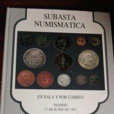 Catálogos y Libros de Monedas: SUBASTA NUMISMÁTICA 1993. Lote 91226062