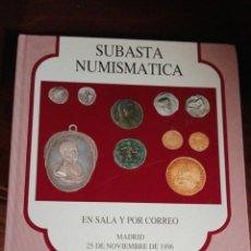 Catálogos y Libros de Monedas: SUBASTA NUMISMÁTICA 1996. Lote 91226213