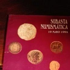 Catálogos y Libros de Monedas: SUBASTA NUMISMÁTICA 1994. Lote 91226554