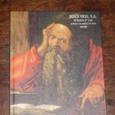 Catálogos y Libros de Monedas: CATALOGO SUBASTA NUMISMATICA JESUS VICO Nº 144. JUEVES 3 MARZO 2016. VER FOTOS PARA VER DETALLES . Lote 94944943