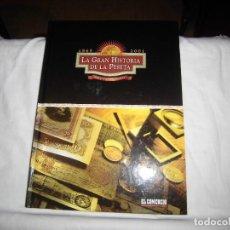 Catálogos y Libros de Monedas: LA GRAN HISTORIA DE LA PESETA 1869-2001 COMPLETO EDITA EL COMERCIO 2001. Lote 95883759