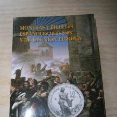 Catálogos y Libros de Monedas: MONEDAS Y BILLETES ESPAÑOLES 1833-2008 Y DE LA UNIÓN EUROPEA. EDICIÓN 2009.. Lote 95900875