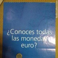 Catálogos y Libros de Monedas: FOLLETO - CARTEL DE LA SALIDA DEL EURO, TAMAÑO PLEGADO 15X21 CMS. DESPLEGADO 42X60 CMS. Lote 95926459