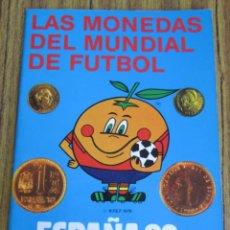 Catálogos y Libros de Monedas: LAS MONEDAS DEL MUNDIAL DE FÚTBOL ESPAÑA 82 - POR JUAN R. CAYO – CARLOS CASTAN. Lote 97254667