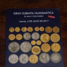 Catálogos y Libros de Monedas: CATALOGO GRAN SUBASTA NUMISMATICA SOLER Y LLACH MARTI HERVERA 6 JULIO 2017 EN SALA Y POR CORREO. . Lote 98704115