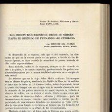 Catálogos y Libros de Monedas: GIL FARRÉS, OCTAVIO. LOS CROATS BARCELONESES DESDE SU ORÍGEN HASTA EL REINADO DE FERNANDO... 1959.. Lote 99347603