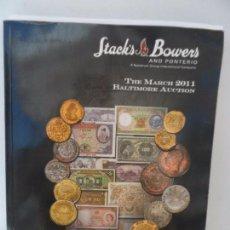 Catálogos y Libros de Monedas: STACK´S AND BOWERS AND PONTERIO CATALOGOS DE MONEDAS APRIL 2011. Lote 99369379