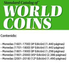 Catálogos y Libros de Monedas: CATALOGO MUNDIAL DE MONEDAS KRAUSE EN DVD. Lote 174395484