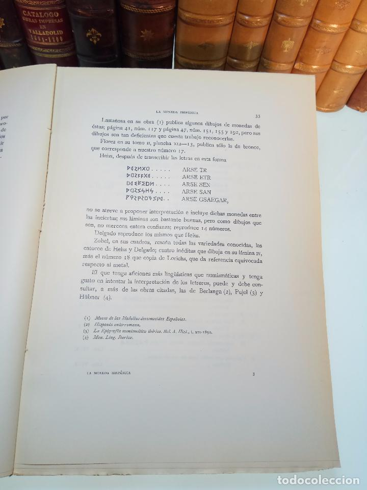 Catálogos y Libros de Monedas: LA MONEDA HISPÁNICA - ANTONIO VIVES Y ESCUDERO - REAL ACADEMIA DE LA HISTORIA - MADRID - 1926 - INTO - Foto 3 - 105607547