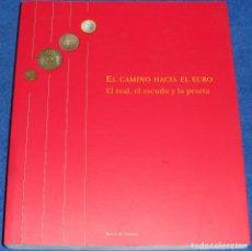 Catálogos y Libros de Monedas: EL CAMINO HACIA EL EURO - EL REAL, EL ESCUDO Y LA PESETA - BANCO DE ESPAÑA (2001). Lote 107623011