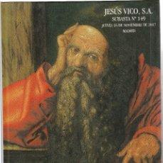 Catalogues et Livres de Monnaies: CATALOSO DE SUBASTAS JESUS VICO- Nº 149- 16 DE NOVIEMBRE DE 2017. Lote 110774323