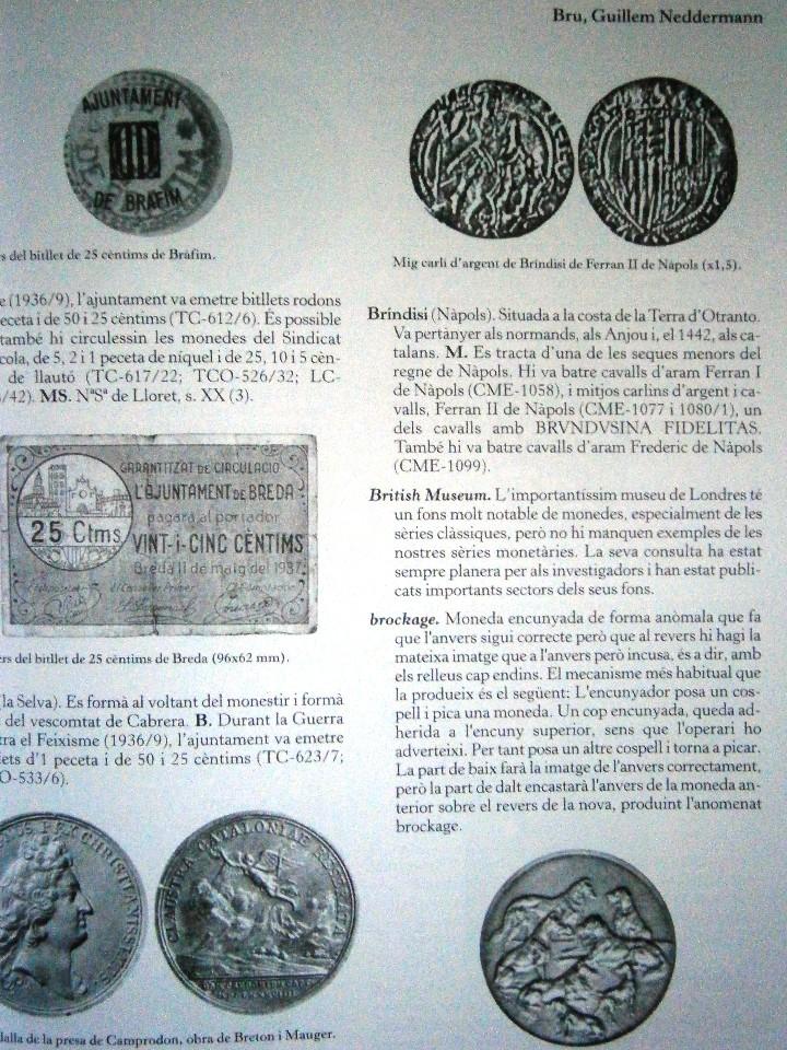Catálogos y Libros de Monedas: Glosario Catala de Numismatica M.Crusafont i Sabater - Foto 2 - 110434955