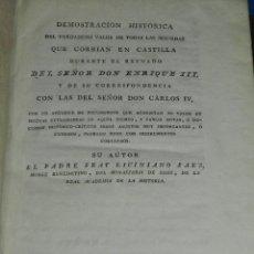 Catálogos y Libros de Monedas: (MF) FRAY LICINIANO SAEZ - DEMOSTRACION HISTORICA DEL VERDADERO VALOR DE TODAS LAS MONEDAS CASTILLA. Lote 111704995
