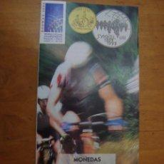 Catálogos y Libros de Monedas: FOLLETO MONEDAS CONMEMORATIVAS MUNDIAL DE CICLISMO 1993. Lote 111881147