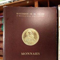 Catálogos y Libros de Monedas: SUCCESSION DE MRS SQUIER ET PROVENANT D´UNE AUTRE COLLECTION. MONNAIES D´OR DU MONDE ENTIER.... Lote 114372319