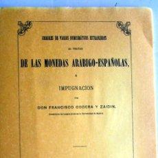 Catálogos y Libros de Monedas: ERRORES DE VARIOS NUMISMATICOS EXTRANGEROS... -CODERA - 1874 - FACSIMIL. Lote 117609491