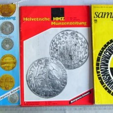 Catálogos y Libros de Monedas: 3 REVISTAS EXTRANJERAS. Lote 117609643