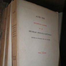 Catálogos y Libros de Monedas: HEISS, ALOISS: DESCRIPCION GENERAL DE LAS MONEDAS HISPANO-CRISTIANAS DESDE LA INVASIÓN DE LOS ÁRABES. Lote 120049259