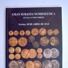 Catálogos y Libros de Monedas: A408.- SUBASTA NUMISMATICA.- 20 DE ABRIL DE 2010.- MARTI HERVERA - SOLER Y LLACH. Lote 123363899