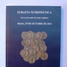 Catálogos y Libros de Monedas: A403.- SUBASTA NUMISMATICA.- 29 DE OCTUBRE DE 2013.- MARTI HERVERA - SOLER Y LLACH. Lote 123364659