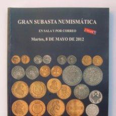 Catálogos y Libros de Monedas: A404.- SUBASTA NUMISMATICA.- 8 DE MAYO DE 2012.- MARTI HERVERA - SOLER Y LLACH. Lote 123365151