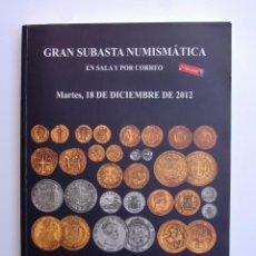 Catálogos y Libros de Monedas: A406.- SUBASTA NUMISMATICA.- 18 DE DICIEMBRE DE 2012.- MARTI HERVERA - SOLER Y LLACH. Lote 123365587