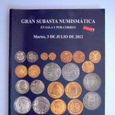 Catálogos y Libros de Monedas: A407.- SUBASTA NUMISMATICA.- 3 DE JULIO DE 2012.- MARTI HERVERA - SOLER Y LLACH. Lote 123366067